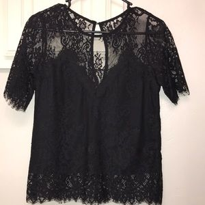 NWOT Black Lace Blouse